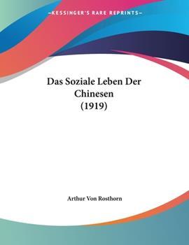 Paperback Das Soziale Leben der Chinesen Book