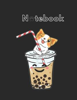 Paperback NoteBook : Kawaii Corgi Loves Bubble Tea Funny Bobas Welsh Dog Gift Notebook for Dog Fans Animal Print Journal College Ruled Blank Lined 110 Pages of 8. 5 X11 the Little Mermaid Secret Diary and Journals Book