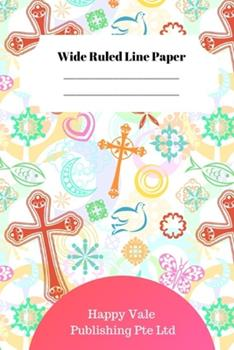 Paperback Cute Christian Theme Wide Ruled Line Paper Book