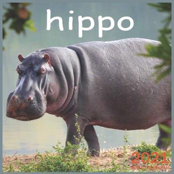 Paperback hippo: 2021 Wall & Office Calendar, 12 Month Calendar Book