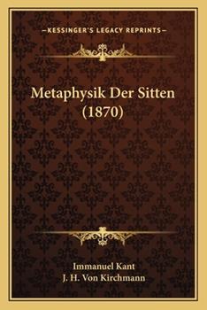 Paperback Metaphysik Der Sitten (1870) Book