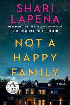 Paperback Not a Happy Family [Large Print] Book