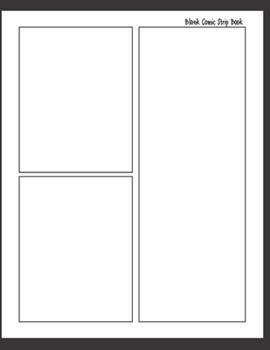 """Paperback Blank Comic Strip Book: Blank Comic Book Pages - Large Paper Size 8.5 x 11"""" [Large Print] Book"""