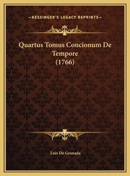 Hardcover Quartus Tomus Concionum de Tempore Book