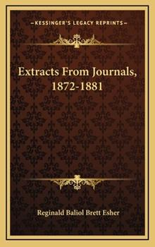 Hardcover Extracts from Journals, 1872-1881 Book