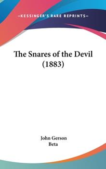 Hardcover The Snares of the Devil (1883) Book