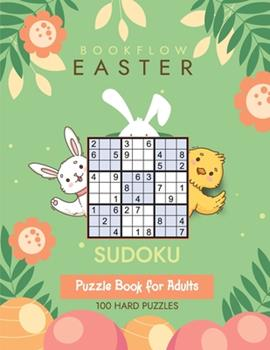Paperback Bookflow Easter Sudoku: Sudoku puzzle book for adults with 100 hard puzzles Book
