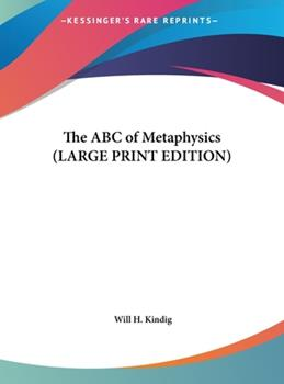 Hardcover The Abc of Metaphysics [Large Print] Book