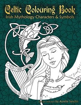 Paperback Celtic Colouring Book of Irish Mythology Characters & Symbols Book