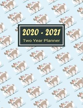 Paperback 2020-2021 Two Year Planner : Cutie Deer Two Year Planner, Two Year Calendar 2020-2021, Daily Monthly Planner 2020 Size 8. 5 X 11 Inch, Business Planners, Agenda, Schedule, Organizer, Planner Prayer Journal, Planner 2020-2021 Daily Book