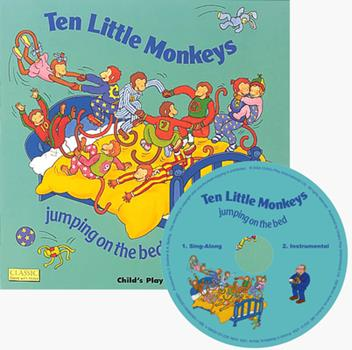 Paperback Ten Little Monkeys Jumping on the Bed [With CD (Audio)] Book