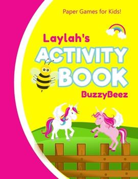 Paperback Laylah's Activity Book : 100 + Pages of Fun Activities - Ready to Play Paper Games + Storybook Pages for Kids Age 3+ - Hangman, Tic Tac Toe, Four in a Row, Sea Battle - Farm Animals - Personalized Name Letter l - Hours of Road Trip Entertainment Book