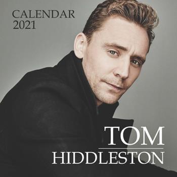 """Paperback Tom Hiddleston: 2021 Wall Calendar - 8.5""""x8.5"""", 12 Months Book"""