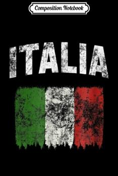 Paperback Composition Notebook : Italia Coat of Arms Italian Flag Rome Italy Journal/Notebook Blank Lined Ruled 6x9 100 Pages Book