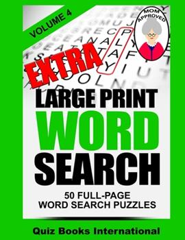 Paperback Extra Large Print Word Search Volume 4 [Large Print] Book