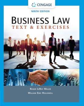 Business Law: Text and Exercises 0324786166 Book Cover