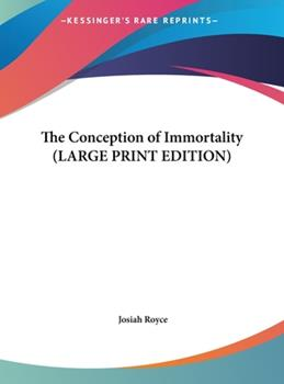 Hardcover The Conception of Immortality [Large Print] Book