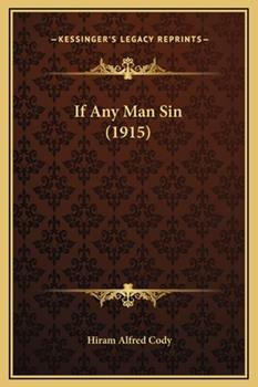 Hardcover If Any Man Sin Book