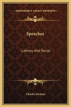 Hardcover Speeches : Literary and Social Book