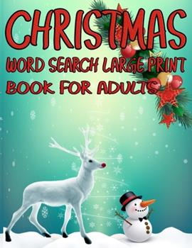 Paperback Christmas Word Search Large Print Book for Adults : Exercise Your Brain and Fill Your Heart with Christmas Spirit [Large Print] Book