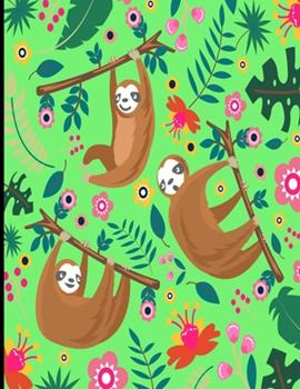 Paperback Avery : Light Green Sloth Sketch Book, 366 Pages Sketch Pad, Sloth Sketchbook, Cute Sloth Cover Drawing Book