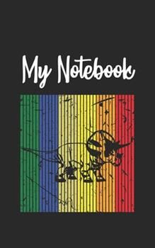 Paperback My Notebook : Dinosaur Retro and Vintage Style 100 Pages and Lined Book