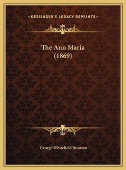 Hardcover The Ann Maria Book