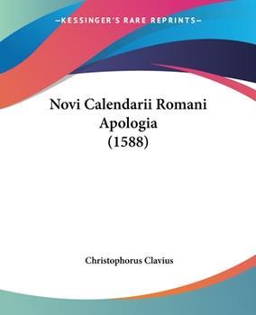 Paperback Novi Calendarii Romani Apologia (1588) Book