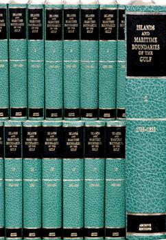 Hardcover Islands and Maritime Boundaries of the Gulf 1798-1960 20 Volume Hardback Set Including Boxed Maps Book