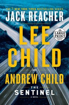 Paperback The Sentinel: A Jack Reacher Novel [Large Print] Book