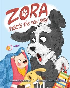 Paperback Zora Meets The New Baby [Large Print] Book