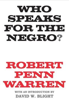 Who Speaks for the Negro? 039445183X Book Cover