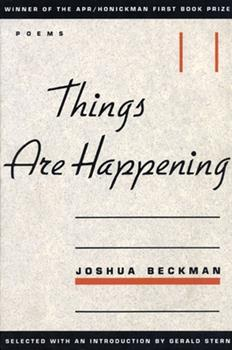 Things Are Happening 0966339517 Book Cover