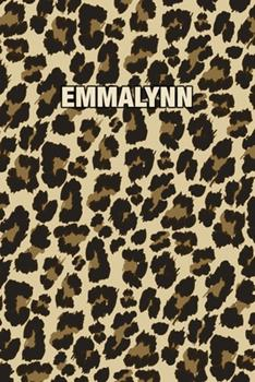 Paperback Emmalynn : Personalized Notebook - Leopard Print (Animal Pattern). Blank College Ruled (Lined) Journal for Notes, Journaling, Diary Writing. Wildlife Theme Design with Your Name Book