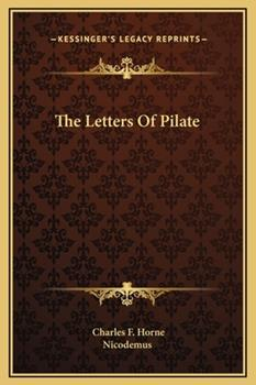 Hardcover The Letters of Pilate Book