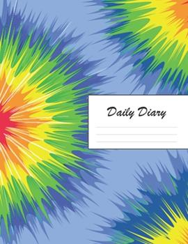 Paperback Daily Diary : Blank 2020 Journal Entry Writing Paper for Each Day of the Year - Tie Dye Design Pattern - January 20 - December 20 - 366 Dated Pages - a Notebook to Reflect, Write, Document & Diarise Your Life, Set Goals & Get Things Done Book