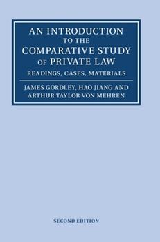 Hardcover An Introduction to the Comparative Study of Private Law Book