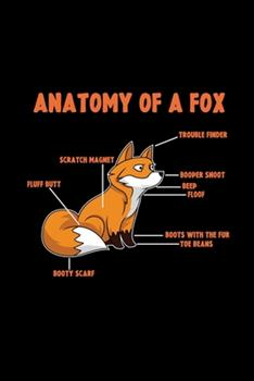 Paperback Anatomy of a Fox : 6x9 FOX - Blank with Numbers Paper - Notebook - Notes Book