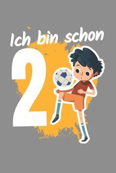 Paperback Notizbuch A5 (6X9zoll) Kariert 120 Seiten : Fu�ball 2. Geburtstag Geschenk Jungen 2 Jahre Mannschaft [German] Book