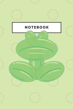 Paperback Notebook : Frog Balloon Notebooks and Journal Soft Cover Lined Animal Cute Pet Composition Book Planner Diary Cute Frog Art Book