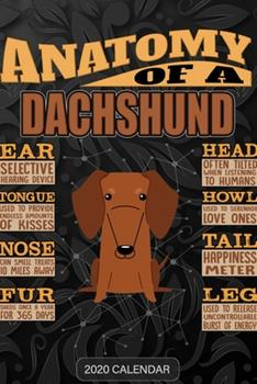 Paperback Anatomy Of A Dachshund: Dachshund 2020 Calendar - Customized Gift For Dachshund Dog Owner Book