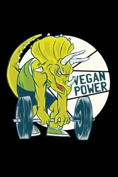 Paperback Vegan Power 120 Pages DINA5 : Fitness Journal Book Activities Book Daily Activity and Fitness Tracker Book