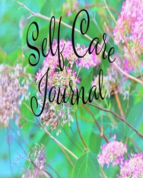 Paperback Self Care Journal : Positive Thoughts and Inspirational Quotes Featuring Invincibelle Spirit Hot Pink Hydrangeas on Aqua Original Digital Oil Painting Cover Artwork Book