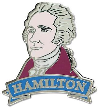 Hardcover Enamel Pin Hamilton Book