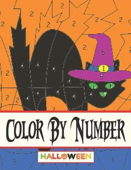 Paperback Color by Number Halloween: Color by Number Halloween (Hours of Fun!) Book