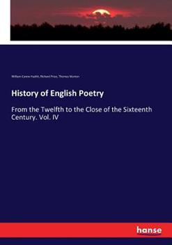 History of English Poetry 3744678385 Book Cover
