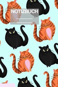 Paperback Notizbuch A5 Muster Zeichnung Katzen Katze Cat Cats Orange Schwarz Haustier : - 111 Seiten - EXTRA Kalender 2020 - Einzigartig - Liniert - Linie - Linien - Geschenk - Geschenkidee [German] Book