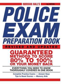 Paperback Norman Hall's Police Exam Preparation Book