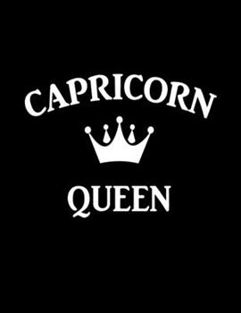 Paperback Capricorn Queen: Awesome Capricorn girl funny gift - College Ruled Notebook Journal Book