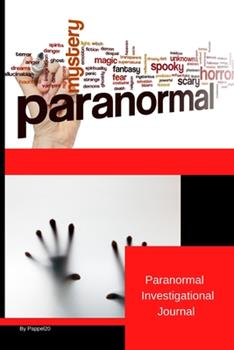 Paperback Paranormal Investigation Journal Book